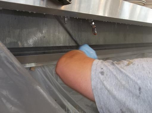 Restaurant hood exhaust cleaning